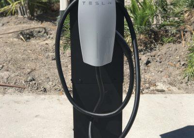 Tesla Charging Post